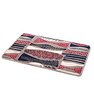 Kitchen mats Met Love Alfombrilla para Puerta de Cocina, Alfombrilla Antideslizante para baño con Tiras largas, absorción de Agua, Alfombrillas de baño para el hogar, 40 * 60cm