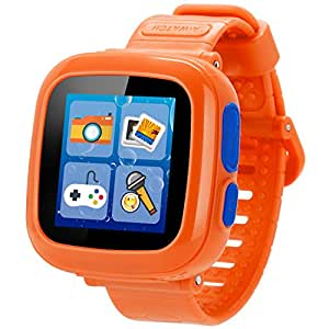 Game Smart Watch for Kids Children Boys Girls with Camera 1.5'' Touch 10 Games Pedometer Timer Alarm Clock Toy Wrist Watch Health Monitor (Orange)
