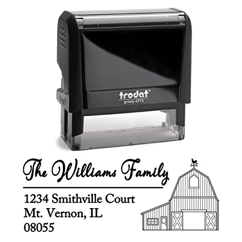 Personalized Self Inking Stamp - Return Address Stamp Customized - Custom Rubber Stamp – Housewarming Gift – Wedding Address Labels – Large 3 Lines – Family Last Name Customized Stamp