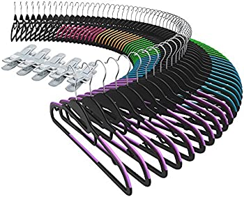 Sable Ultra-Thin Nonslip S-Shape Clothes Hangers 60-Pack