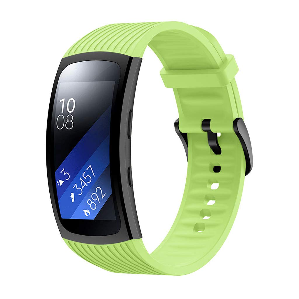 Silicone Wristband Replacement Fit Samsung Gear Fit 2 SM-R360//Fit2 Pro R365 S//L