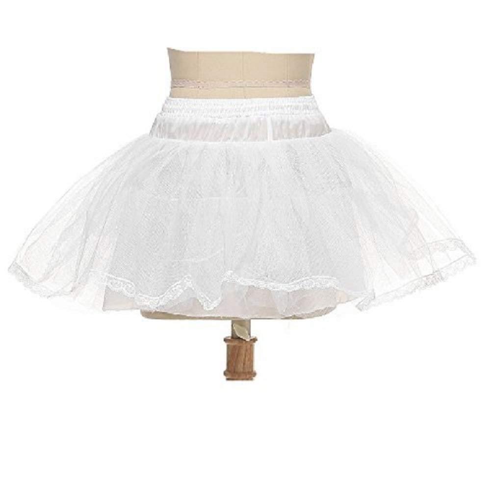 Noriviiq Girl's Hoopless Net Petticoat Kids Flower Girl Underskirt For Bridesmaid
