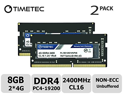(Timetec Hynix IC 8GB Kit (2x4GB) DDR4 2400MHz PC4-19200 Unbuffered Non-ECC 1.2V CL16 1Rx8 Single Rank 260 Pin SODIMM Laptop Notebook Computer Memory RAM Module Upgrade (8GB Kit (2x4GB)))