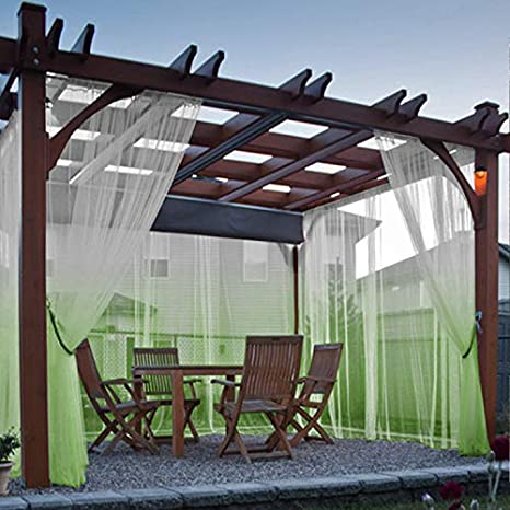 Cololeaf - Cortina para patio, porche, cenador, pérgola y cabana, para jardín, playa, casa, jardín, boda, color amarillo, 132 cm de ancho x 213 cm de largo (1 panel): Amazon.es: Hogar