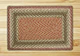 Earth Rugs 27-024 Rectangle Area Rug 5′ x 8′ Olive/Burgundy/Gray
