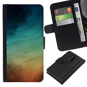 LECELL--Cuero de la tarjeta la carpeta del tirón Smartphone Slots Protección Holder For LG G3 -- REMOLINOS PASTEL --