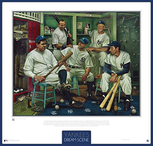 (Yankees Baseball Dream Scene Lithograph Photo - By Artist Jamie Cooper)