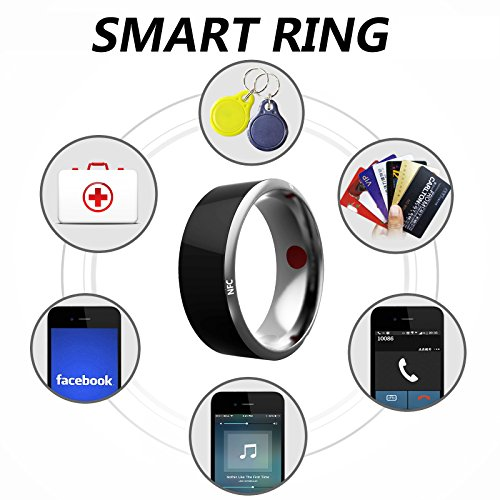 Newbud R3 Generation NFC Ring General Intelligent Accessories Intelligent Wearable Health Ring For IPhone Android (7#) by Newbud