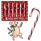 Bacon Flavor Candy Canes Box of 6
