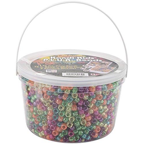 Ultra Sparkle - The Beadery Ultra Kandi Rave Bead Bucket, Sparkle Multicolor