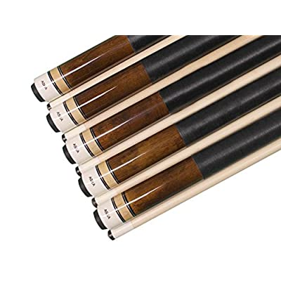 Image of ASKA Set of 5 Brown L2 Billiard Pool Cues, 58' Hard Rock Canadian Maple, 13mm Hard Le Pro Tip, 19oz. Cue Sticks