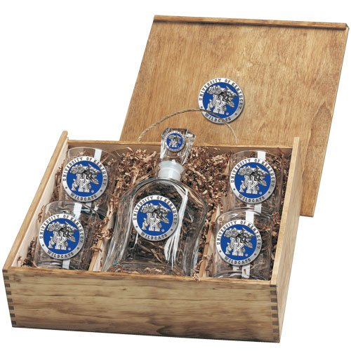 Kentucky Wildcats Capitol Decanter Box Set by Heritage Pewter