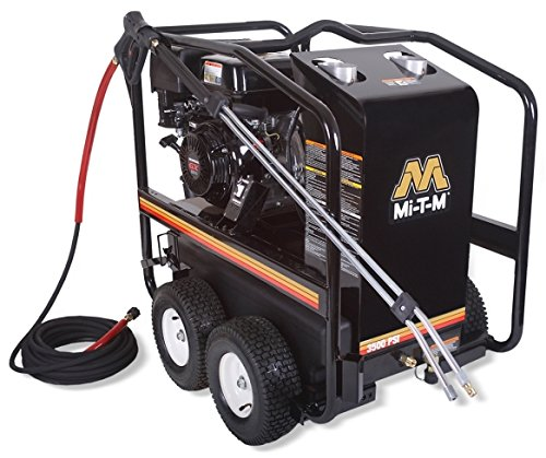 (Mi-T-M HSP-3504-3MGH HSP Series Hot Water Gasoline Direct Drive, 389cc Honda OHV Engine, 3500 PSI Pressure Washer)