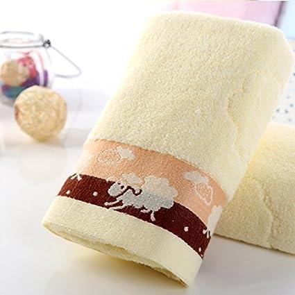 Toalla de algodón jacquard toalla de lavado un par de modelos Cartoon cordero párrafo suave absorbente