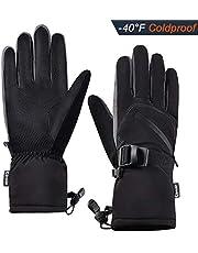 Winter Ski Gloves Warm Waterproof Windproof Built-in Zipper Pocket