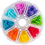 Wazazha 104 Piece Locking Stitch Markers, Knitting Stitch Counter, Multi-Colored Crochet Stitch Needle Clip with Compartment Box Crochet Tools