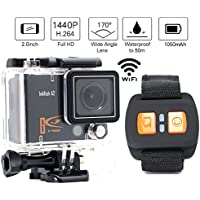 1+1®Ultra Hd 4K Wifi Action Camera 1080p 60fps 2.0 Inch Screen 170°a+ real-time FPV Quadcopter Drone Sports Wrist Remote Control sport Waterproof Camera