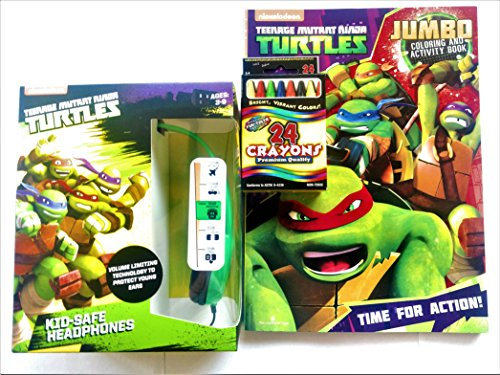teenage-mutant-ninja-turtles-childrens-volume-safe-headphones-bundle-with-tmnt-jumbo-coloring-and-ac