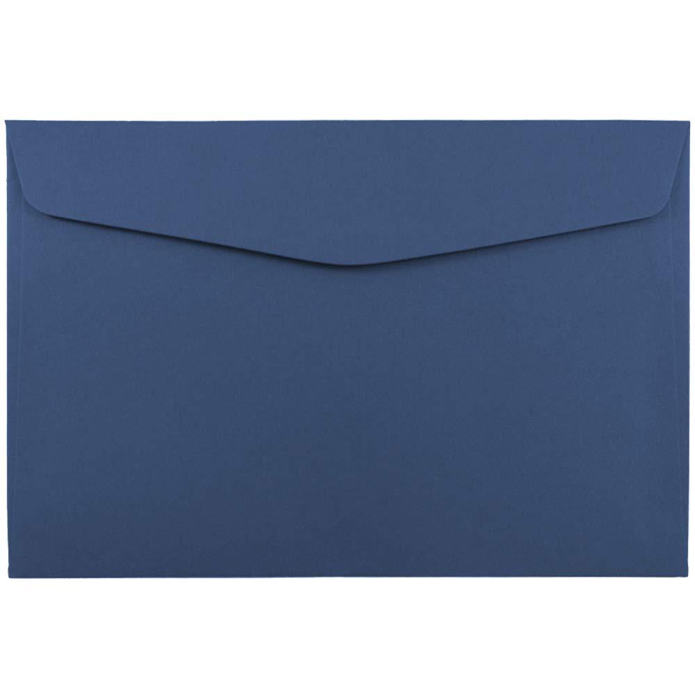 JAM PAPER 6 x 9 Booklet Premium Envelopes - Presidential Blue - 100/Pack by JAM Paper