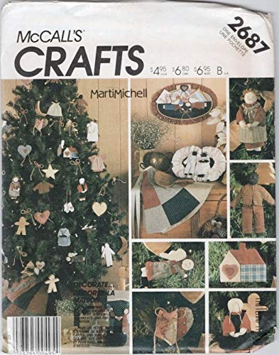 (McCall's 2687 Crafts Sewing Pattern Folk Christmas Stocking Ornaments Apron Tree Skirt)