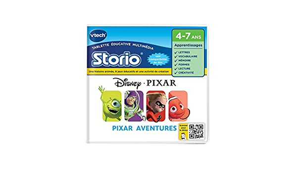 Amazon.es: VTech Tableta educativo multimedia Pixar Aventures (233505) (versión en francés)