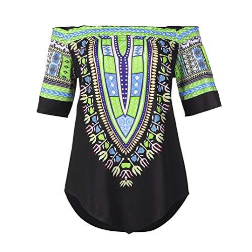 lgant Bustier Chemisier Courtes Shirt Femme Ethnique AIMEE7 Manche Noir T Imprim Style xSZaqUa