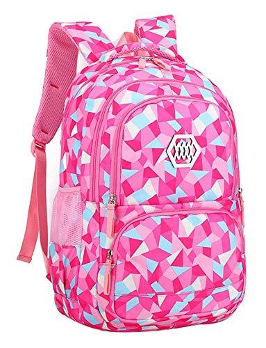 Amazon.com: Mochila escolar para niña a la moda, impermeable ...