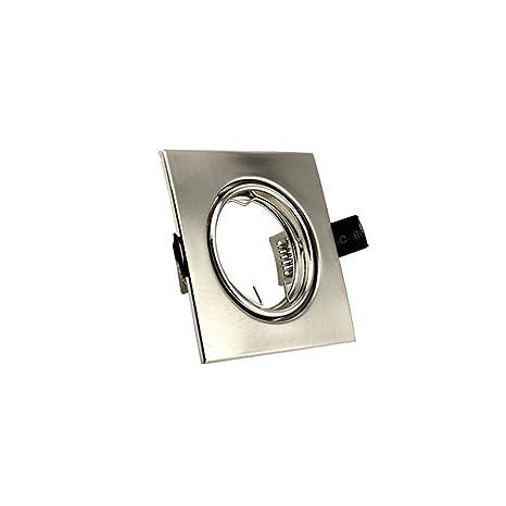 Filux Embellecedor Cuadrado GU10, Gris, 87 x 87 mm