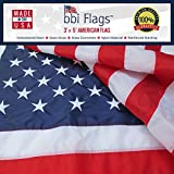 An American Flag Should Be Made in the USA! There Is Nothing Like True American Craftsmanship! When you buy a bbi Flags American Flag or state flag, you get a flag that is 100% Made in the USA.  That means the material and the labor come from the USA...