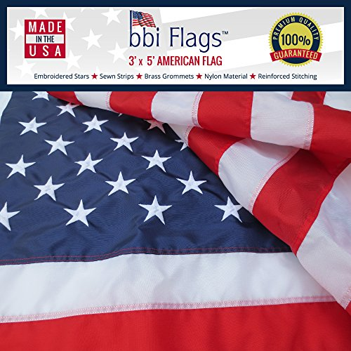 American Flags Embroidered Outdoor Withstands