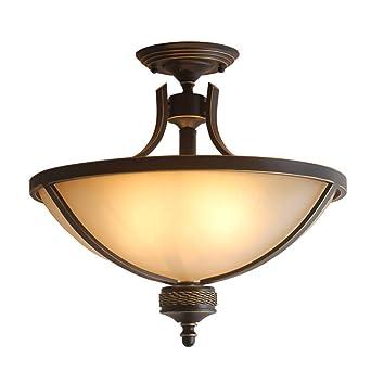 Lámpara de techo E27 retro Lámpara de techo redonda creativa ...