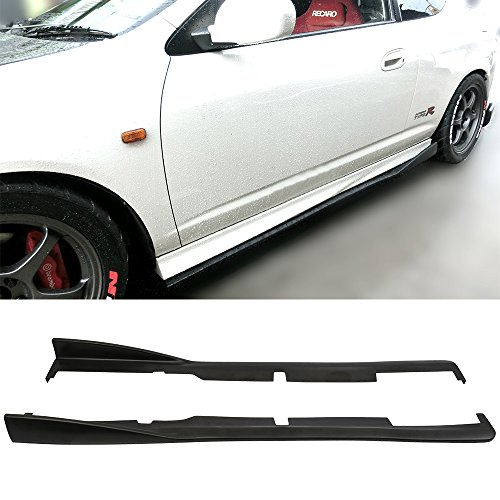 Side Skirts Fits 2002-2006 Acura RSX DC5 | CS Style Black PU Sideskirt Rocker Moulding Air Dam Chin Diffuser Bumper Lip Splitter by IKON MOTORSPORTS| 2003 2004 ()