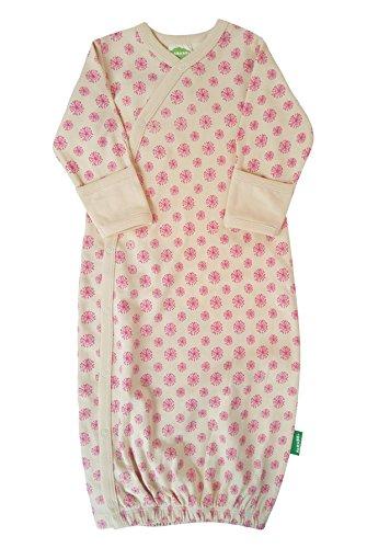 - Parade Organics Kimono Gowns Signature Prints Pink Dandelions 0-3 Months