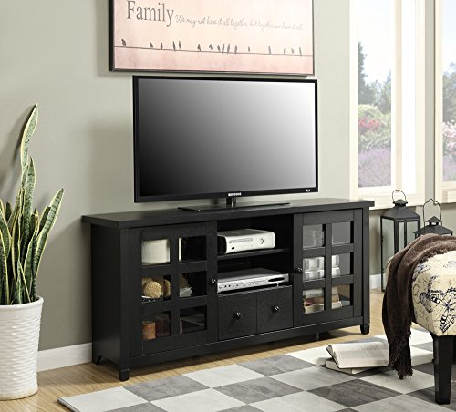 Convenience Concepts Newport Park Lane TV Stand, Black