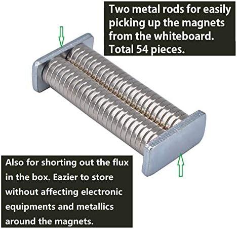 Magenesis Imanes de neodimio, 10 x 2 mm, 52 Unidades, Muy Fuertes, Aprox. 2 kg de Fuerza Adhesiva - esis estomacal, 10x2 mm: Amazon.es: Juguetes y juegos
