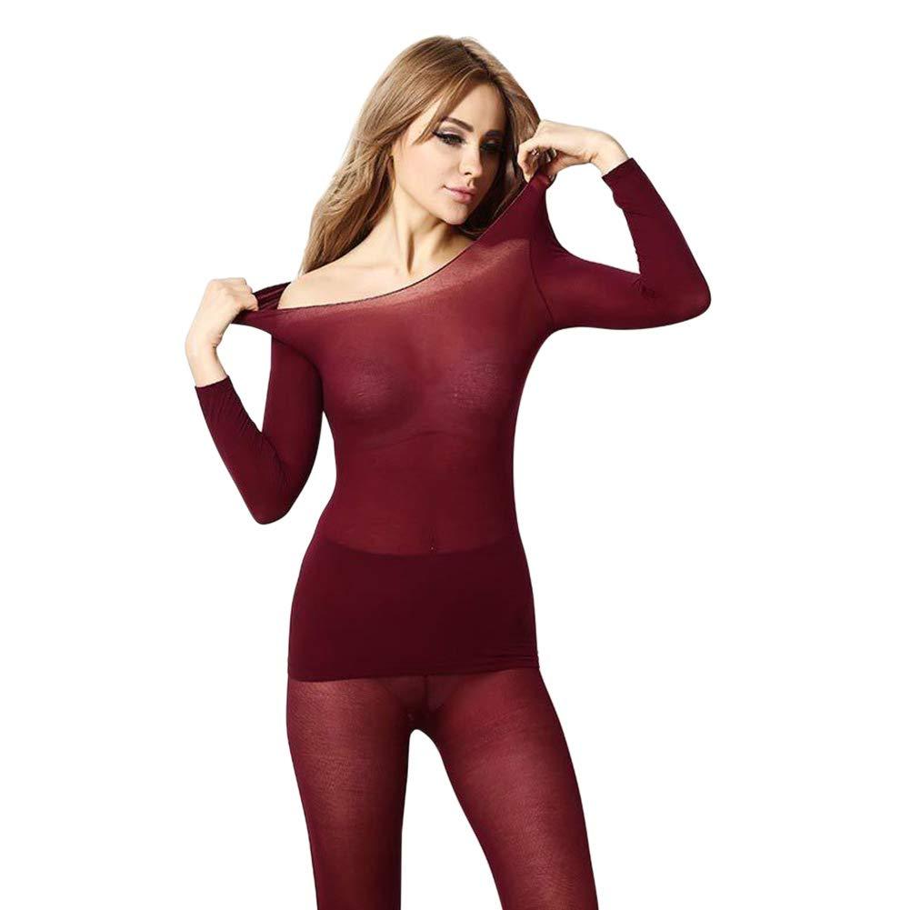 con Pantaloni Termico 2 Pezzi Nero Completo Invernale da Donna PerGrate Senza Cuciture