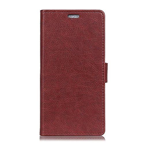 Funda Samsung Galaxy S9 [Happon] Ranuras para Tarjetas y Billetera Carcasa PU Libro de Cuero Flip Leather Cierre Magnético Soporte Plegable para Samsung Galaxy S9 (Marrón Claro) Marron Oscuro