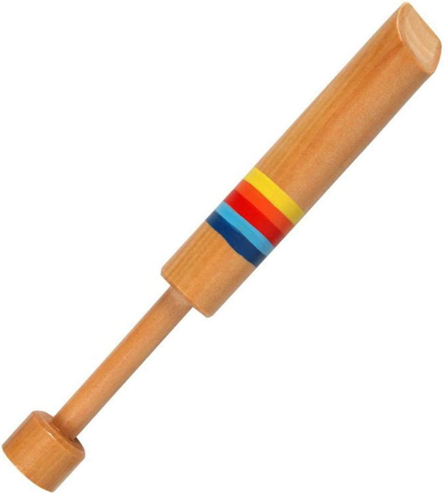 YSHTAN Wooden Piccolo Toy Orchestral Instrument Repair Tool Wooden Small Piccolo Pulling Diacritical Sliding Whistle Children Musical Toy Wood Color