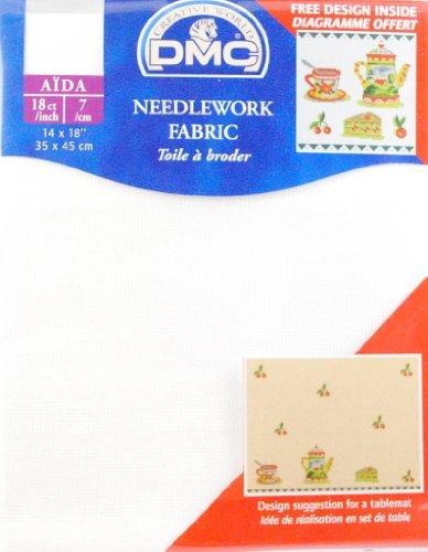 18 Count Aida Fabric 14x18 Inches  - Blanc - DC37/10