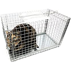 Tomahawk Live Trap Model 306TX Set Over Capture CAGE for Cats