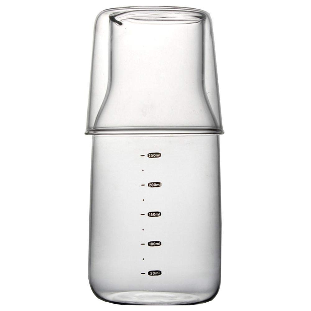 Compra Hamkaw - Vaso de Cristal de 400 ml con Taza pequeña de 200 ...