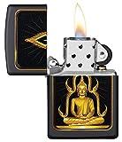 Custom Personalized Black Matte Buddha Zippo