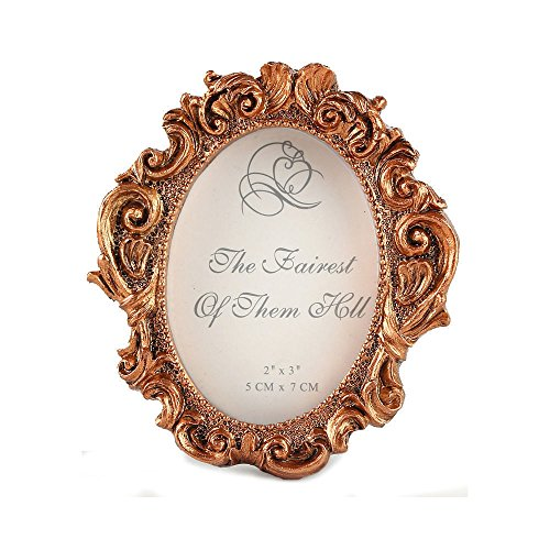 CraftbuddyUS Oval Gold Vintage Wedding Frame,Baroque Style Picture - Oval Style