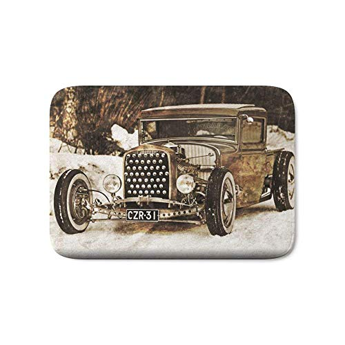 LACOP-Store The Pixeleye - Special Edition Hot Rod Series IV Bath Mat 36 x 24 (Cotton Hot Rod)