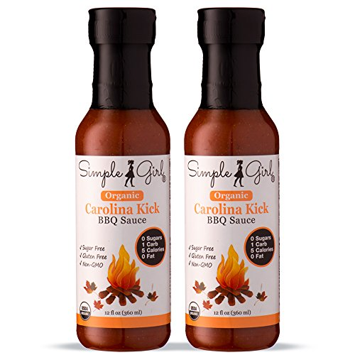Simple Girl Organic Carolina Kick BBQ Sauce - 12oz - 2 Bottl