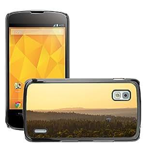 Super Stella Slim PC Hard Case Cover Skin Armor Shell Protection // M00421404 Nature Landscape Forest Hills // LG Nexus 4 E960