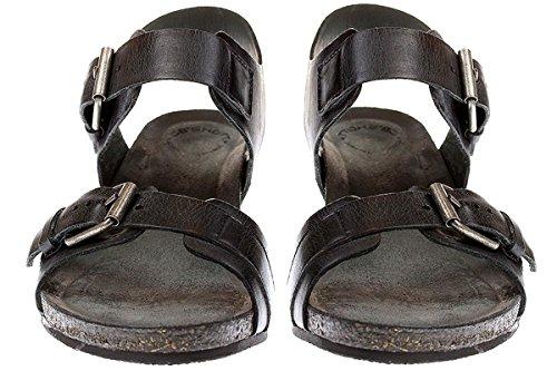 Ca Shott 17074 - Damen Schuhe Sandale Keilsandalette - 130-black-west, Größe:41 EU