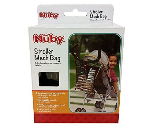 Nuby Universal Size Stroller Bag and Organizer, Black