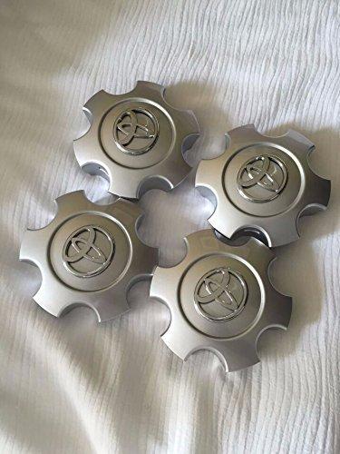 4 New 03-07 Toyota Sequoia Tundra Wheel Rims Center Hub Caps Bright Silver Standard 69440 (4 Wheel Auto Center)