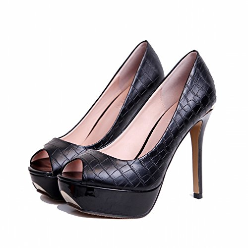 Heeled Waterproof LY Single Shoes Simple A with Fine High Shoes Temperament 8OY8xa
